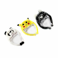 Anime Cartoon Trainer Pokemon Cute Animal Plush Hat Cap Cosplay Fancy Costume