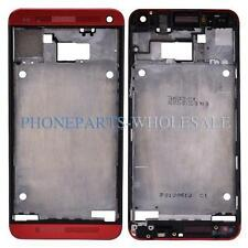 Red Front Middle Bezel Frame Cover Housing Replacement Parts For HTC One 801e M7