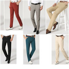 New Mens Stylish Formal Trousers Straight Slim Fit Pants Casual Long Cargo Pants