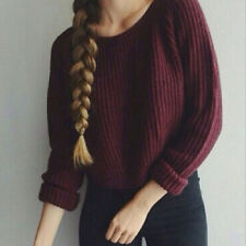 women sweaters pullovers long sleeve casual crop slim solid knitted jumpers New