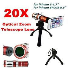 20X Optical Zoom Telescope Lens Telephoto Camera Tripod For Cell iPhone 6