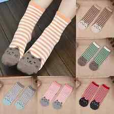 1 Pair Fashion Womens Sports Casual Cute  Cat Striped Ankle High Cotton Socks hs