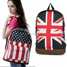 Book Campus Backpack Flag Print Bag Shoulder Unisex Bags Canvas Schoolbag FT