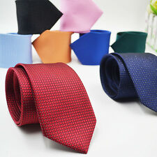 Fashion Classic Checks Jacquard Woven Silk Cotton Mens Tie Necktie Wedding Party