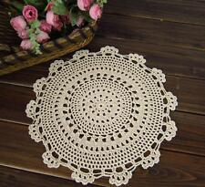 New 12'' 20'' Round Cotton Hand Crochet Doilies Placemats Coasters Doilies M05/7