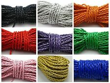 32.8 Feet BOLO Braided Leatheroid String Jewelry Cord 3mm Pick Your Color