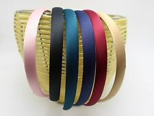 "12 Pcs Wide 15mm(5/8"") Alice Covered Satin Hair Band Headband Korean Hairband"