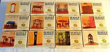 LOT OF DOLLHOUSE HOUSE OF MINIATURES 12 COLONIAL FURNITURE KITS, VINTAGE, MINT