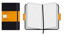 MOLESKINE NOTEBOOK RULED BLACK HARDCOVER - Two Sizes Available