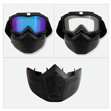Removable Face Mask Cover Skiing Motocycle Goggles Cycling Bicycle Glasses
