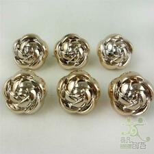 50 pcs Rose Shape Golden Electroplate Color Buttons Lot Craft Sewing