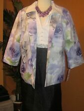 ALFRED DUNNER NWT $68 VIOLETS ARE BLUE women's blazer purple green white