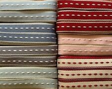 EAST OF INDIA RIBBON ~ Stitched ~ Assorted Colours ~ 3m 5m 10m ~ 10mm Wide