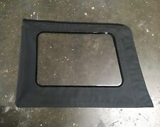 2007-2016 Jeep Wrangler Unlimited Driver Clear Soft Top Window Black Used