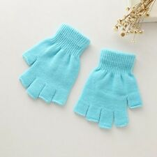 Unisex Plain Basic Fingerless Winter Gloves  Many Colors Men Women Warm