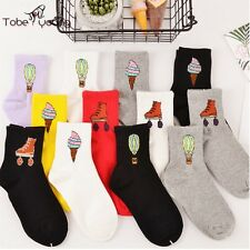 Fashion Unisex 3D Cartoon Cotton High Socks Casual Womens Mens Hosiery Stockings