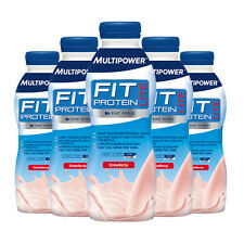 MultiPower Fit Protein Lite RTD 12 x 500ml Low Fat Drink Muscle Building Recover