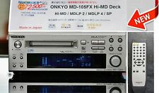 NEW ! Hi-MD ONKYO MINIDISC MD-105FX HiMD  MDLP 2/4 Mini DECK Recorder MD NEU!
