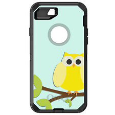 CUSTOM OtterBox Defender for iPhone 6 6S 7 PLUS Yellow Owl Cartoon