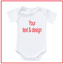 Personalised Customised Baby Romper Onesie - Your own design / text