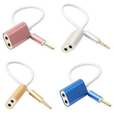 1 Male to 2 Female Audio Cable Splitter Headphone Adapter for Phone MP3 Glorious