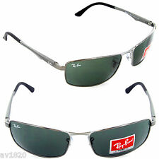 BRAND NEW RAY BAN UNISEX METAL RB3498-505 POLARIZED GRADIENT100% UV FROM ITALY