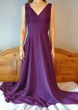 ALLURE BRIDAL Bridesmaid Gown Long Tulle Dress Purple GRAPE 1455 PROM Formal