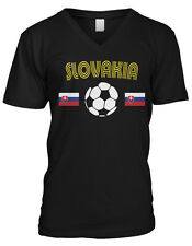 Slovakia Soccer Ball Flag -Country Colors Slovak Pride Mens V-neck T-shirt