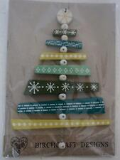 Birchcraft Wooden Chunky Green Bead Christmas Tree Hanging Decoration New