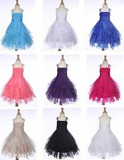 ORGANZA FLOWER GIRL DRESS PAGEANT WEDDING BRIDESMAID PARTY 2 3T 4 5 6 8 10 12 14