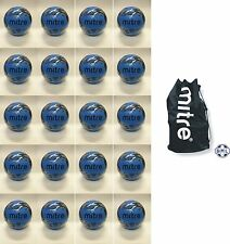 20 x MITRE MISSION TRAINING FOOTBALLS + JUMBO BALL SACK - SIZE 4 - CYAN BLUE