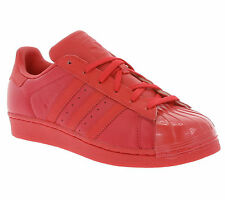 NEW adidas Originals Superstar Glossy Toe W Shoes Women's Sneaker Trainers Red