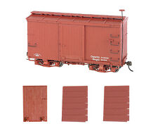 Bachmann 26551 On30 Data Only 18' Wood Boxcar w/Murphy Roof Oxide Red (2)