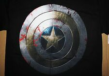 MARVEL COMICS Captain America ~ The Bloody Shield in War ~ T Shirt Mens S New