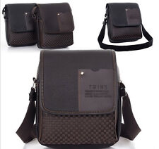 Mens Faux Leather Messenger Bag Handbag Briefcase Laptop Shoulder Bag