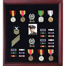 Officers Medal Display Case Plus Photo shadowbox, Military Frame Hand Made
