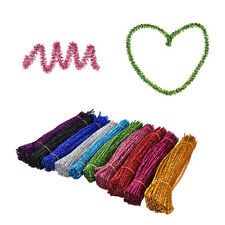 Coloured Glitter Chenille Stems Pipe Sticks Cleaners For Art DIY Handicrafts