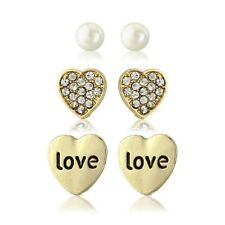 Love heart earring set, 3 pairs of earrings, will arrive with a pretty gift bag