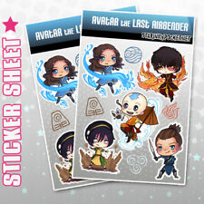 Avatar the Last Airbender Legend of Korra Stickers Sheets