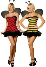 Womens Buggin Out Sexy Reversible Bumble Bee and Ladybug Adult Costume Small 2-6