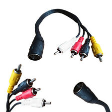 1ft 3ft 5 PIN DIN Female Jack to 4 RCA PHONO Male Plug AUDIO AMP Composite CABLE