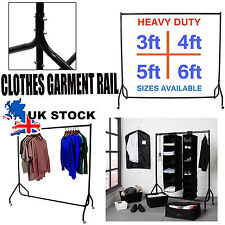 6FT HEAVY DUTY RAIL 140KG 5FT CLOTHES DRESS GARMENT HANGING DISPLAY STAND RACK