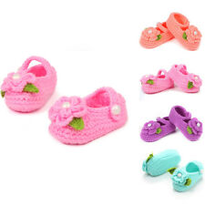 Winter Crib Crochet Casual Baby Girls Handmade Knit Sock Infant Foliage Shoes
