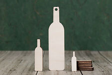 Wooden Wine Bottle Shapes 4mm birch ply wood craft Blank, embelishment