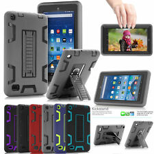 Heavy Duty Armor Defender Case With Stand Case Cover For Amazon Kindle Fire 7""