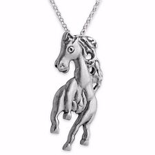 Horse Galloping Forward Pendant Necklace #925 Sterling Silver #Azaggi N0254S