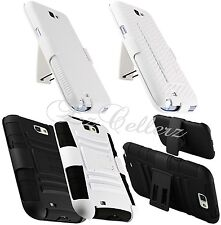 for SAMSUNG GALAXY NOTE II 2 RUGGED HYBRID CASE COVER SKIN HOLSTER KICKSTAND NEW