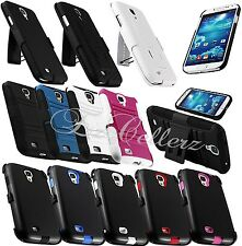 for SAMSUNG GALAXY S4 SIV RUGGED HYBRID CASE COVER SKIN KICKSTAND HOLSTER CLIP