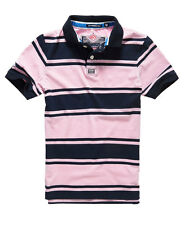 New Mens Superdry Williamsburg Polo Shirt Pale Pink