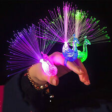 5/10*Flashing Peacock Finger Lights Lamps Party Laser Finger Light Up Beam Torch